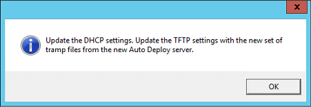 VMware vCenter 6.5 upgrade, update the dhcp settings, TFTP for Auto deploy server